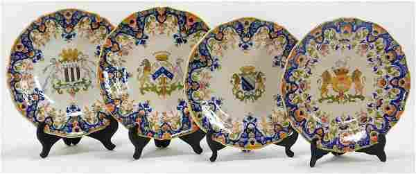 4PC Edme Samson Style Chinese Export Plates