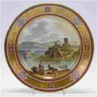 Royal Vienna Landscape Porcelain Plate