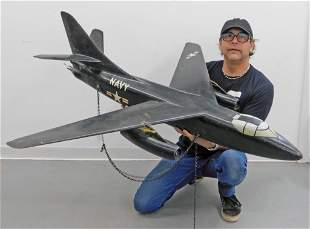 LARGE Douglas A3 Skywarrior Wood Model Plane