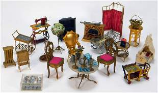66PC Miniature Dollhouse Furniture Collection