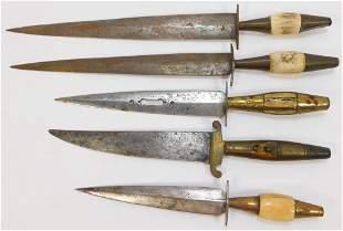 5PC 19C Spanish Albacete Punal Daggers