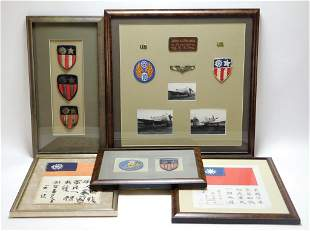 Group of WWII China, Burma, India Items
