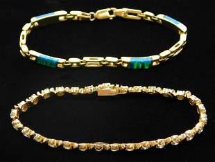 2PC Lady's 14K Gold Estate Bracelets