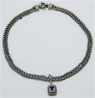 Flli Menegatti Sterling Silver 18K Gold Necklace