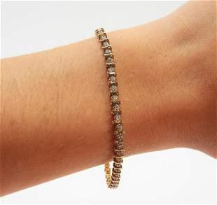 Lady's 14K Gold & Diamond Tennis Bracelet