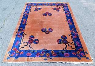 LG Chinese Art Deco Pictorial Rug