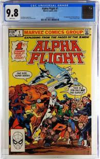 Marvel Comics Alpha Flight #1 CGC 9.8