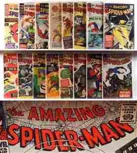 18PC Marvel Comics Amazing Spider-Man #17-#45 & KS