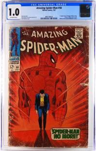 Marvel Comics Amazing Spider-Man #50 CGC 1.0