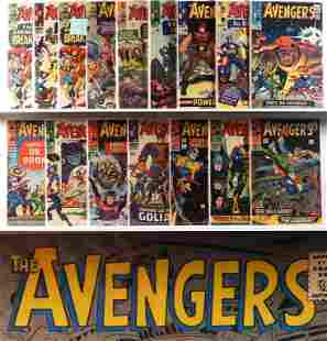 21PC Marvel Comics Avengers #10-#36 Group