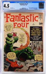 Marvel Comics Fantastic Four #1 CGC 4.5