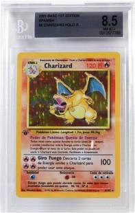 2001 Spanish Pokemon Base 1st Ed Charizard BGS 8.5