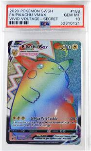 2020 Pokemon Vivid Voltage Pikachu VMAX PSA 10