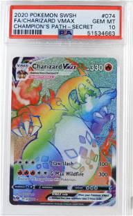2020 Pokemon Champion's Path Charizard VMAX PSA 10