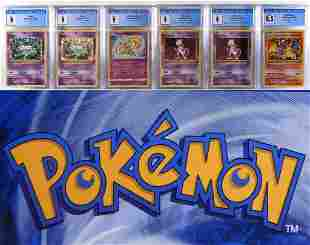 6PC Pokemon Evolutions Charizard Mew Mewtwo CGC