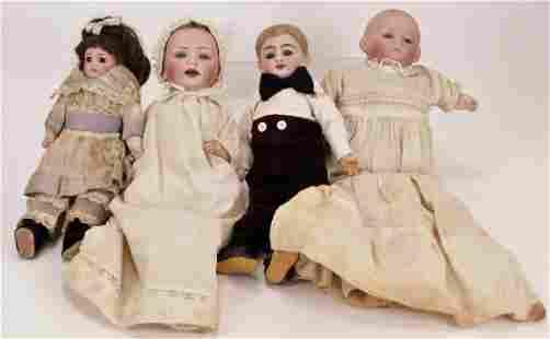 4PC Antique German Bisque Dolls