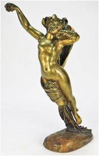 19C. French Female Nude Bronze Sculpture