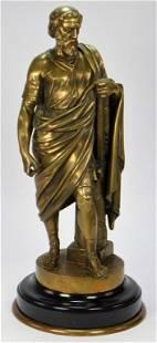 Italian Male Bronze Classical Scholar Sculpture