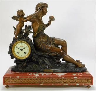 Aft. Emile Bruchon Art Nouveau Mantel Clock