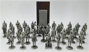 36PC Lance Fine Pewter Presidential Figures
