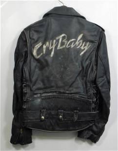 Johnny Depp Cry Baby Set Worn Leather Jacket