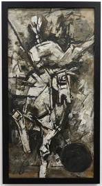 Maqbool Fida Husain Cubist Horse Painting