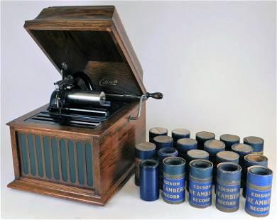 Edison Amberola Model 30 Cylinder Roll Phonograph