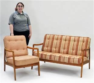 2PC Ole Wanscher MCM Sofa & Chair