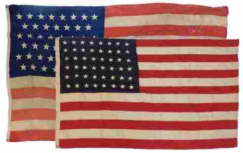 2PC American 45 & 48 Star Flags