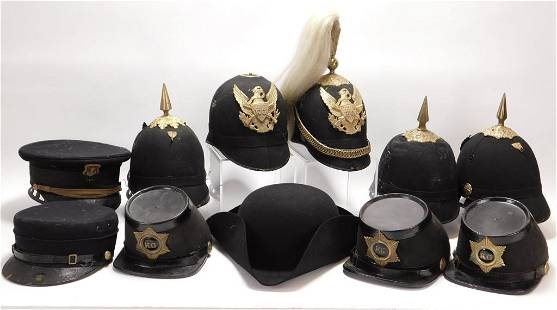 12PC Kentish Guard & Other American Military Hats