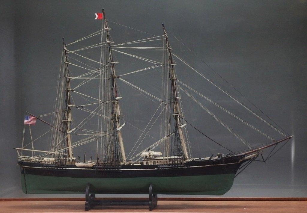 Folk Art Ship Diorama Sovereign of Seas NY