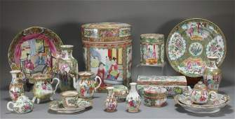 Group of Chinese Rose Medallion Export Porcelain