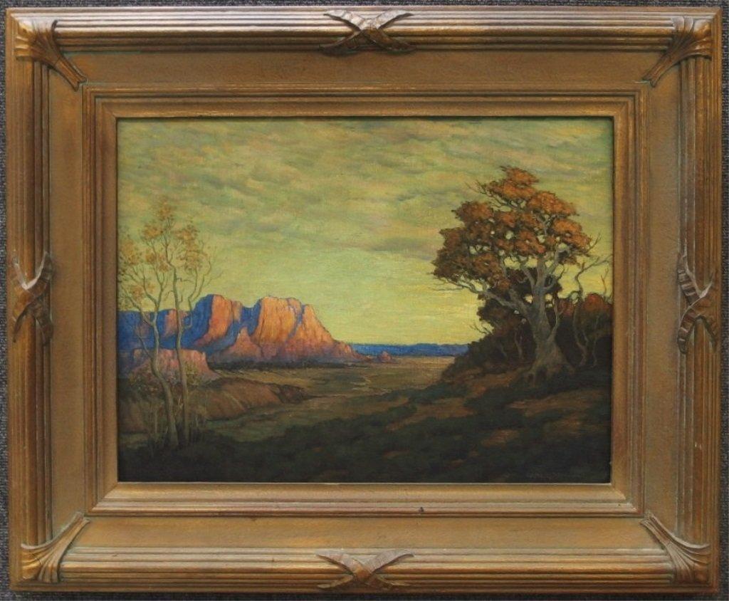 Carl Moon Southwestern Landscape Painting