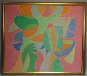 Pedro Coronel Abstract Painting - In The Manner