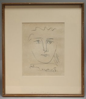 Pablo Picasso Pour Roby Framed Etching