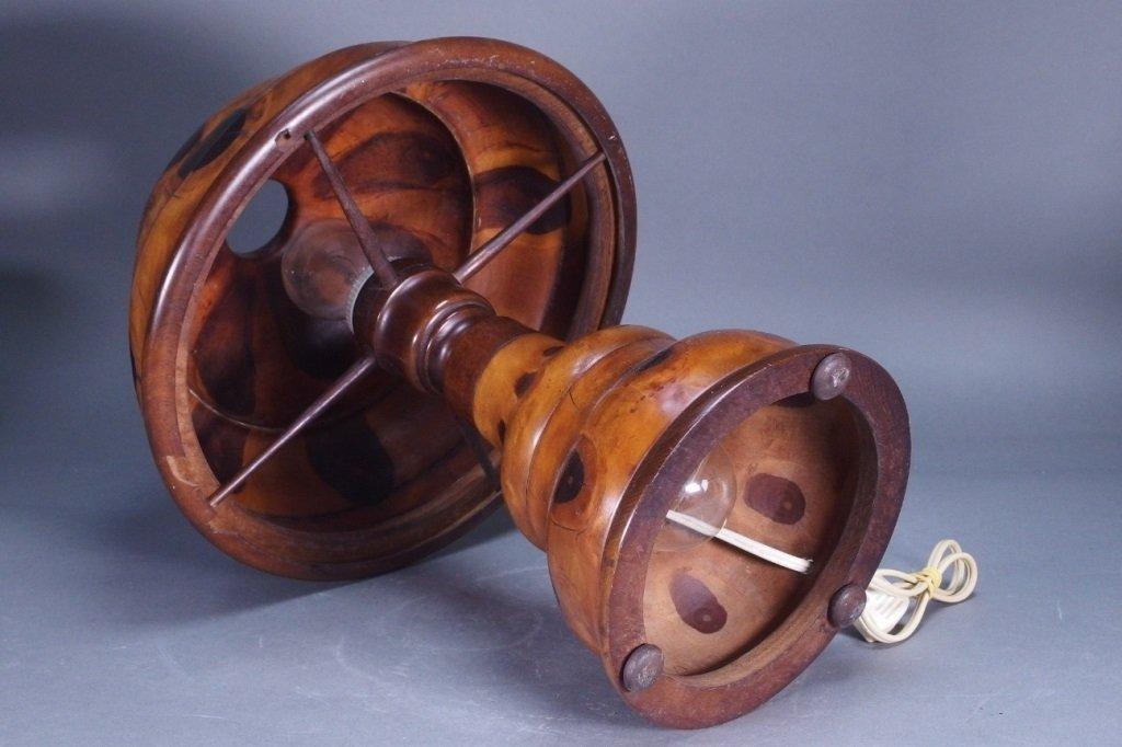 Brazilian Butterfly Wood Table Lamp - 4