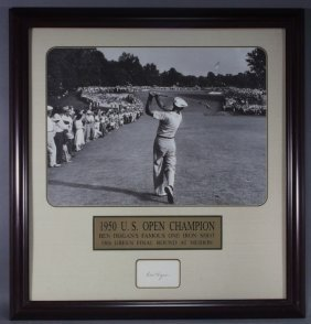 Autographed Ben Hogan 1950 Us Open Champion