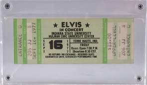 Vintage 1977 Elvis Presley Unused Concert Ticket