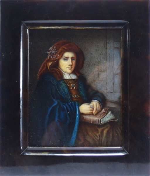 J Labarre Miniature Portrait Of Woman By Rembrandt