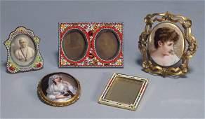 European Portrait Miniature Frame Grouping