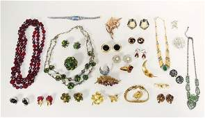 Western Germany Austrian Crystal Jewelry Grouping