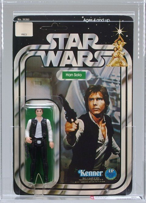 1978 Star Wars 12 Back A Han Solo AFA 85