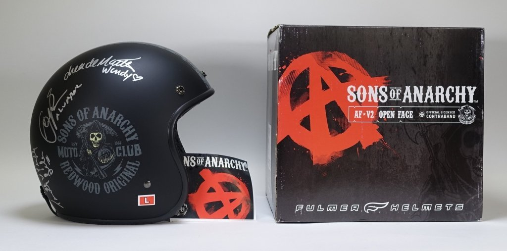 Sons of Anarchy Cast Signed Helmet