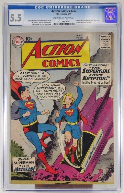 D.C Action Comics 252 5/59 First Supergirl CGC 5.5