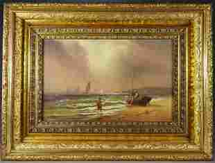 Charles Henry Gifford Beach Seascape Painting