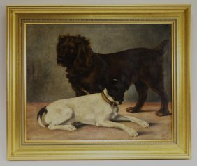J. Eileen Hume Dogs Portrait Painting