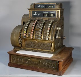 National Cash Register # 442 Brass Register