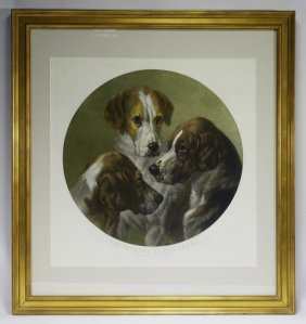 Wt Davey Pytchely Hunt Dog Engraving