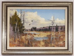 John Loughlin Massachusetts Landscape Painting