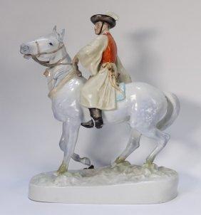 Hungary Herend Porcelain Horseman Figure